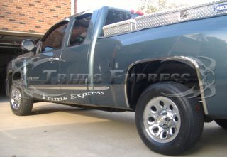 2007 2012 Chevy Silverado Body Side Molding Extended Cab Long Bed 8PC