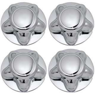 4 PC Set Ford Chrome Wheel Center Hub Caps Rim Covers 5 Lug Steel Alloy Wheels