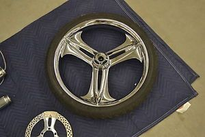 Metalsport Custom Motorcycle Wheel 3D 21x3 with Tire