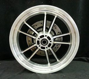 Harley Davidson Dyna 10 Spoke Wheel Cast Aluminum Black Rear Rim 17x4 5