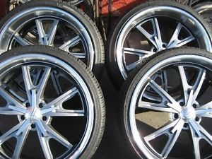 "22"" American Racing VN801 Wheels Rims Tires Ford Mustang"