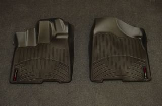 WeatherTech Digital Fit Black Front Floor Mats Liners 11 12 Toyota Sienna 443001