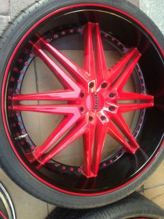 "30"" Dub 30x10 Rims Wheel Tire Package 30INCH with Tires Wheels"