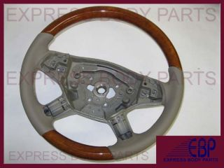 Mercedes Benz Steering Wheel ml W164 ML350 ML500 Tan Beige Leather Wood 2006 08