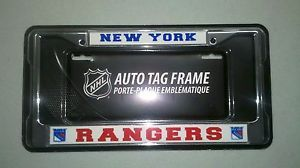NY New York Rangers Chrome Metal Auto Tag License Plate Frame New NHL
