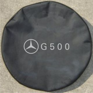 "Mercedes Benz G 500 30"" Black Denim Spare Tire Cover"