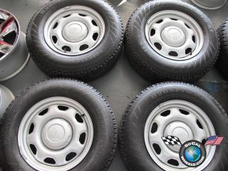 Four 04 11 Ford F150 Factory 17 Steel Wheels Tires Hankook 235 75 17