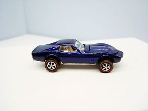 Hot Wheels Custom Corvette Purple White Interior Vintage Chevrolet Redline