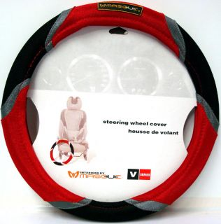 Masque Steering Wheel Cover V Series Black Red Grey