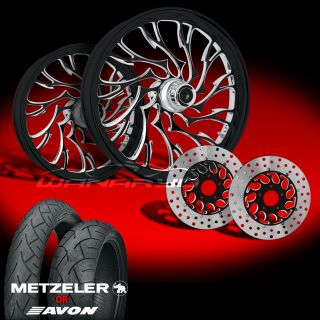 Alien Eclipse Wheels Tires Rotors Pulley 2002 08 Harley V Rod 200 Tire