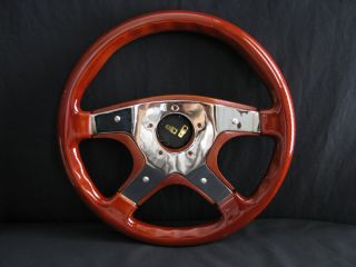 "New 14"" Custom Mahogany Wood Grain Steering Wheel"
