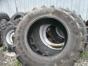 Two 460 85R38 18 4R38 Deere Case IH Pirelli TM600 Farm Tractor Tires
