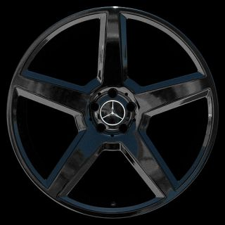 "New 22"" inch Gloss Black Wheels Rims Mercedes Benz AMG Style CL550 S550 S600"
