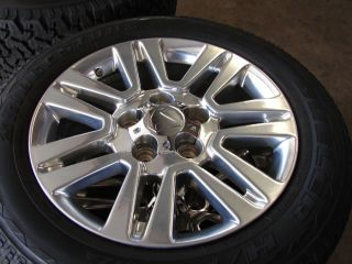 "4 20"" Toyota Tundra Ultra Polished Wheels Rims Bridgestone Tires"