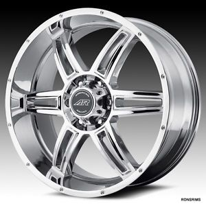 Jeep Wrangler American Racing New Chrome 2012 17x8 Dodge Nitro SUV Wheels