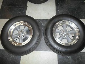 Set of 2 American Racing Wheels 15 Alloy Torq Thrust D Moroso Drag Tires 7 10 15