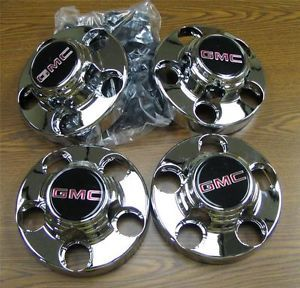 88 98 GMC Sierra CK Truck 5 Lug 2WD Chrome Center Caps