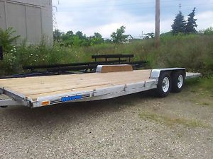 "24' x 8' Bed Big 6K Axles Utility Cargo ATV Car Hauler Trailer 2012 16"" Tires"