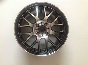"ASA AR3 17"" Black Machined Lip Wheel Single 17x7 4x108 4x4 25 45mm AR17R42BMBF"