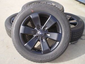 "3833 Ford F150 Expedition 20"" Black Alloy Wheels Rims and Bridgestone Tires FX"
