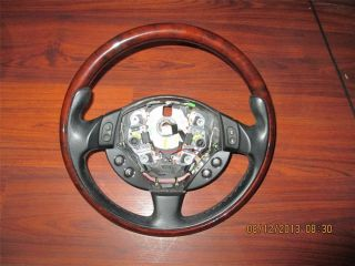 "Maserati ""Quattroporte GT"" 2007 O E M Wood and Black Leather Steering Wheel"