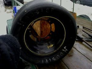 Hoosier Race Tire Mounted on Rim Tire not Good 10 27 15  Wall Hanger