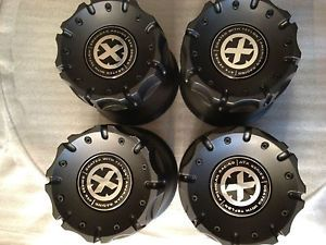ATX Black Center Caps 4 Wheels Rims 8 Lug 8x6 5 Silverado 8x170 Ford F250 F350