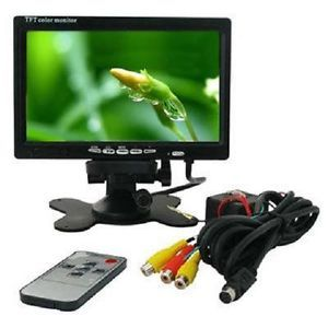 "7"" TFT LCD Color Car Rearview Headrest Monitor DVD VCR"