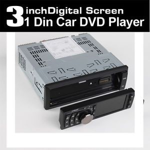 "Cool Single 1 DIN 3"" in Dash Touch Screen Car Stereo DVD CD  Player Radio"