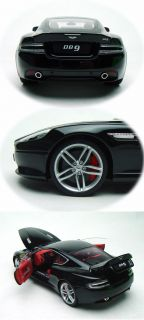 1 18 Welly FX Serie Aston Martin DB9 Diecast Model Black with Red Interior FrShp