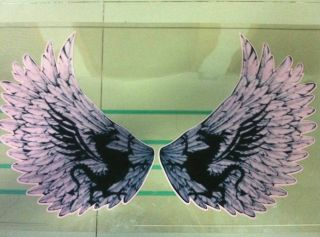 White El Eagles Wings Sticker Music El Panel Car Sticker El Equalizer 65cm 30cm