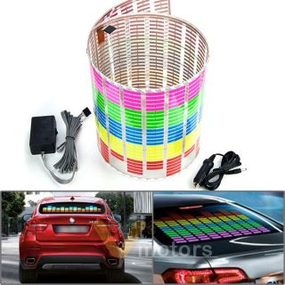90x25cm Car Sticker Music Beat Sound Activated Equalizer Glow LED Light 5 Colors