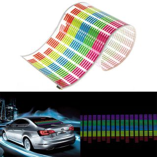 90x25cm Car Sticker Music Rhythm Colorful LED Light Sound Activated Equalizer