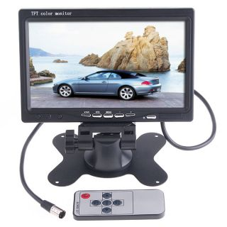 "7"" TFT Color LCD Screen Car Monitor Kit for Backup Rear View Camera DVD VCR CCTV"