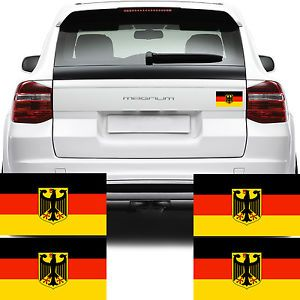 4X Germany Flag Car Van Stickers German Bundesflagge Flagge Decal Graphics