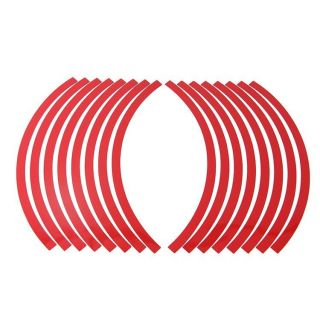 "10"" 12"" Reflective Car Motorcycle Rim Stripe Wheel Tape Decal Stickers Red"