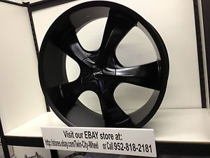 "24 inch Black Stonz Wheels Rims Cadillac Escalade ESV Ext 6x5 5 24"" 35"