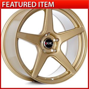 XXR 535 18 18x8 75 5 114 3 35 Gold Wheels Rims Honda Accord Acura TL TSX RSX TC