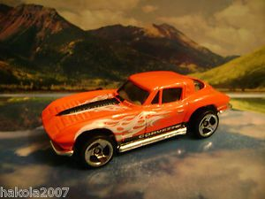 63 Corvette Stingray 2002 Hot Wheels Corvette Series Red