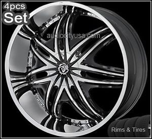 26inch Diablo Wheels and Tires Pkg for Lexus Impala Honda Audi Jaguar Rims