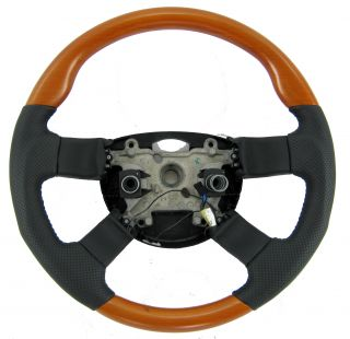 Cherry Wood Steering Wheel Range Rover L322 Wood Leather Interior Autobiography