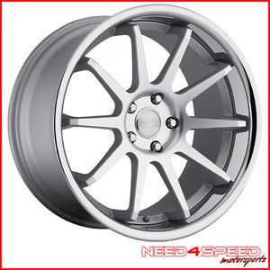 "20"" Infiniti G37 Coupe Concept One CS10 Concave Silver Staggered Wheels Rims"
