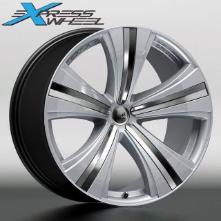 "20"" Mania Savoy New Alloy Rim Wheels H Silver Audi VW Merc Bentley Straggered"
