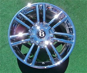 New Genuine Chrome Bentley Continental GTC Speed 80 11 Diamond 20 in Wheels