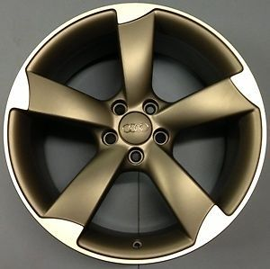 "Genuine Audi A5 19"" 5 Arm Rotor Alloy Wheel Black Edition Matt with Polished Lip"