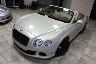 2012 Bentley Continental GTC White Sand Propeller Wheels MSRP $237K Pristine