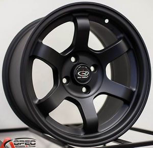 Rota Grid Concave 15x8 4x100 20 Black Wheel Fit BMW 2002 E30 Scion XA XB IQ Rim