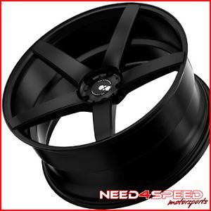 "20"" Acura TL XO Miami Matte Black Concave Wheels Rims"