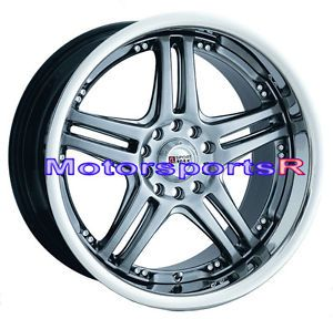 20 20x7 5 XXR 502 Chromium Black Wheels Rims 08 Acura TSX 03 TL 06 RSX 04 RL CL