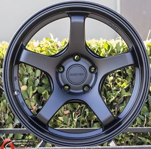 17x9 Rota RT 5 Flat Black Wheels 5x114 3 Rims Fits Acura RSX 2002 2006